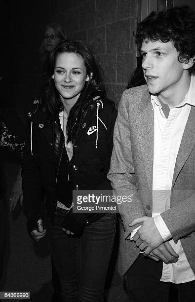 Actors Kristen Stewart and Jesse Eisenberg attend the premiere of 'Adventureland' during the 2009 Sundance Film Festival at Eccles Theatre on January...
