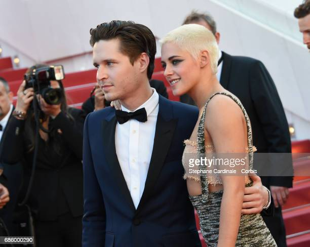 Actors Kristen Stewart and Josh Kaye attend the '120 Beats Per Minute ' premiere during the 70th annual Cannes Film Festival at Palais des Festivals...