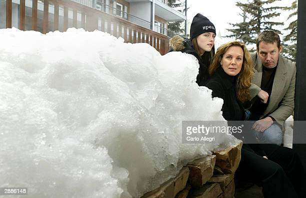 Actors Kristen Stewart DB Sweeney and Elizabeth Perkins of the film 'Speak' pose for portraits during the 2004 Sundance Film Festival on January 20...