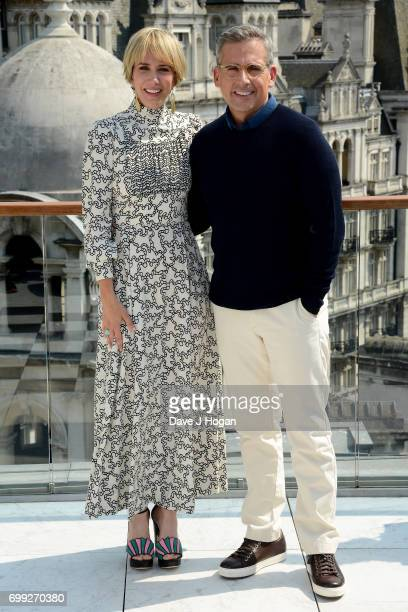 Actors Kristen Wiig and Steve Carell attend the 'Despicable Me 3' photocall at Corinthia Hotel London on June 21 2017 in London England