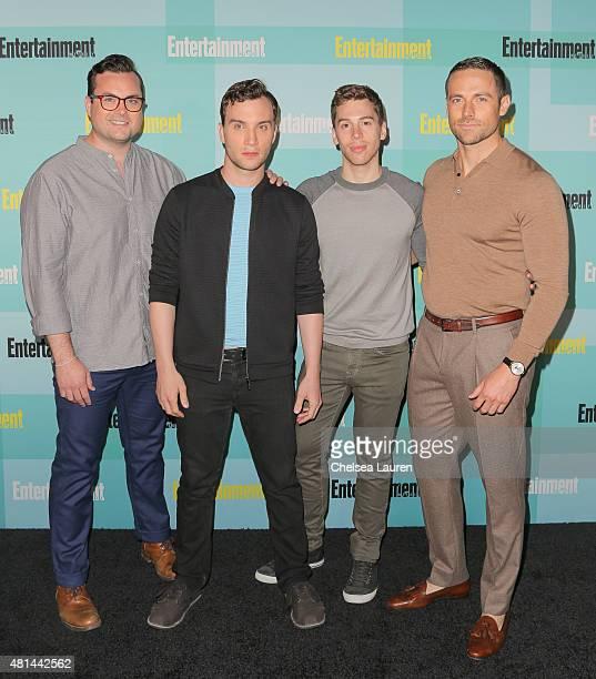 Actors Kristian Bruun Ari Millen Jordan Gavaris and Dylan Bruce arrive at the Entertainment Weekly celebration at Float at Hard Rock Hotel San Diego...