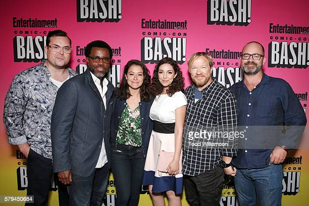Actors Kristian Bruun Kevin Hanchard Tatiana Maslany Kathryn Alexandre director John Fawcett and writer Graeme Manson attend Entertainment Weekly's...