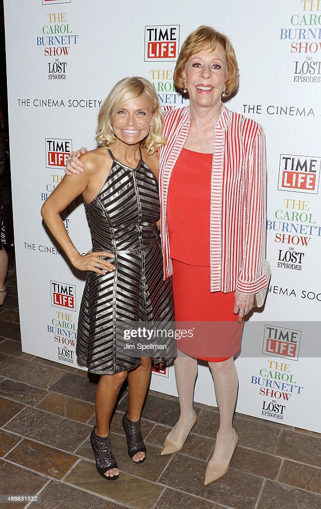 Actors Kristin Chenoweth and Carol Burnett attend 'The Carol Burnett Show: The Lost Episodes' screening hosted by Time Life and The Cinema Society at Tribeca Grand Hotel on September 17, 2015 in New York City.