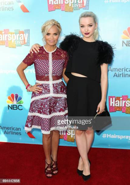 Actors Kristin Chenoweth and Dove Cameron attend the 'Hairspray Live' FYC event at The Saban Media Center on June 9 2017 in North Hollywood California