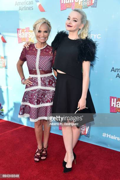 Actors Kristin Chenoweth and Dove Cameron attends NBC's 'Hairspray Live' FYC Event at the Saban Media Center on June 9 2017 in North Hollywood...