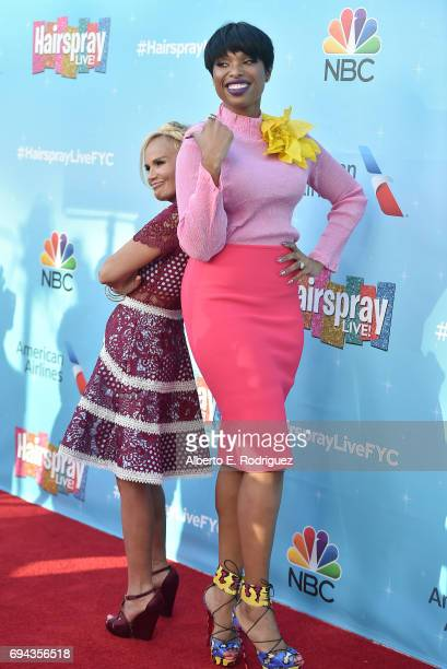 Actors Kristin Chenoweth and Jennifer hudson attend NBC's 'Hairspray Live' FYC Event at the Saban Media Center on June 9 2017 in North Hollywood...