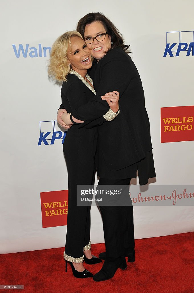 Actors Kristin Chenoweth and Rosie O'Donnell attend PFLAG National's eighth annual Straight for Equality awards gala at Marriot Marquis on April 4, 2016 in New York City.