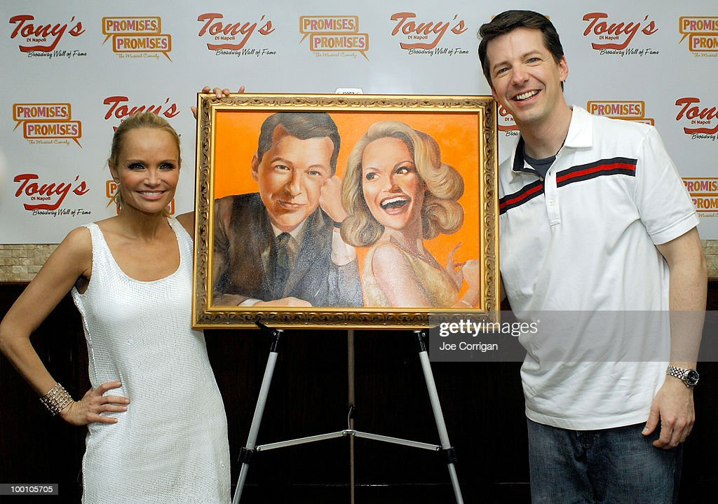 Actors Kristin Chenoweth and Sean Hayes attend their portrait unveiling at Tony's di Napoli. Both are currently co-starring in the broadway production of 'Promises, Promises' on May 20, 2010 in New York City.