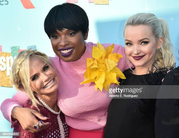 Actors Kristin Chenoweth Jennifer Hudson and Dove Cameron attend NBC's 'Hairspray Live' FYC Event at the Saban Media Center on June 9 2017 in North...