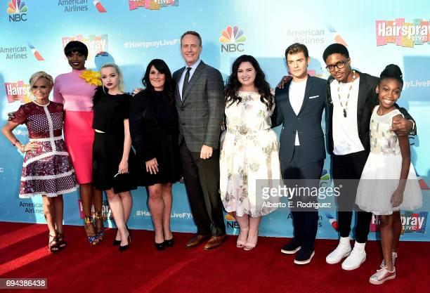 Actors Kristin Chenoweth Jennifer Hudson Dove Cameron Ricki LAke Bob Greenblatt Chaiman of NBC Entertainment actors Maddie Baillio Garrett Clayton...
