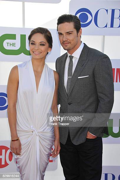 Actors Kristin Kreuk and Jay Ryan arrive at the CW CBS and Showtime 2012 Summer TCA party held at the Beverly Hilton Hotel