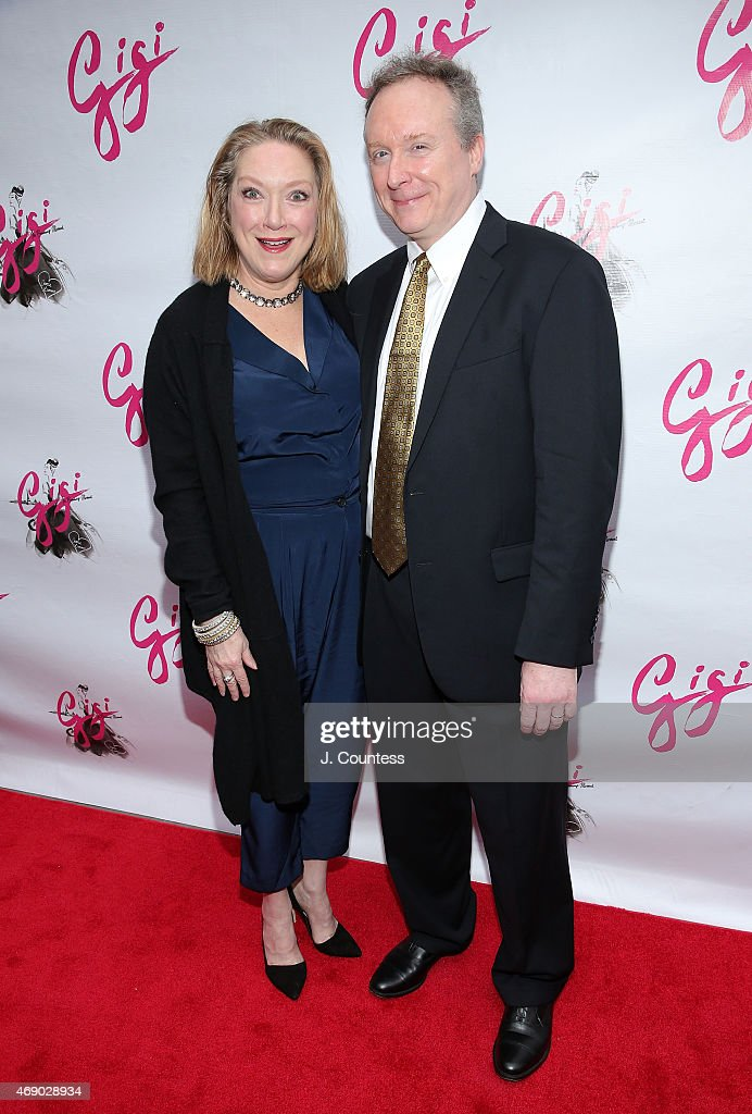 Actors Kristine Nielsen and Brent Langdon attend the Opening Night of 'Gigi' at the Neil Simon Theatre on April 8 2015 in New York City