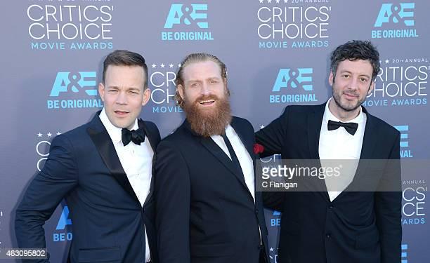 Actors Kristofer Hivju Johannes Kuhnke and editor Jacob Secher Schulsinger attend The 20th Annual Critics' Choice Movie Awards at Hollywood Palladium...