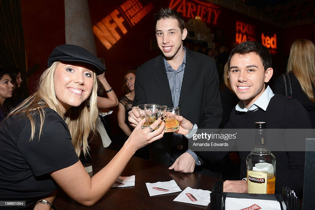 Actors Kristopher Maslardzievski and Nathan Orman attend Variety's 3rd annual Power of Comedy after party event presented by Bing benefiting the Noreen Fraser Foundation held at Avalon on November 17, 2012 in Hollywood, California.