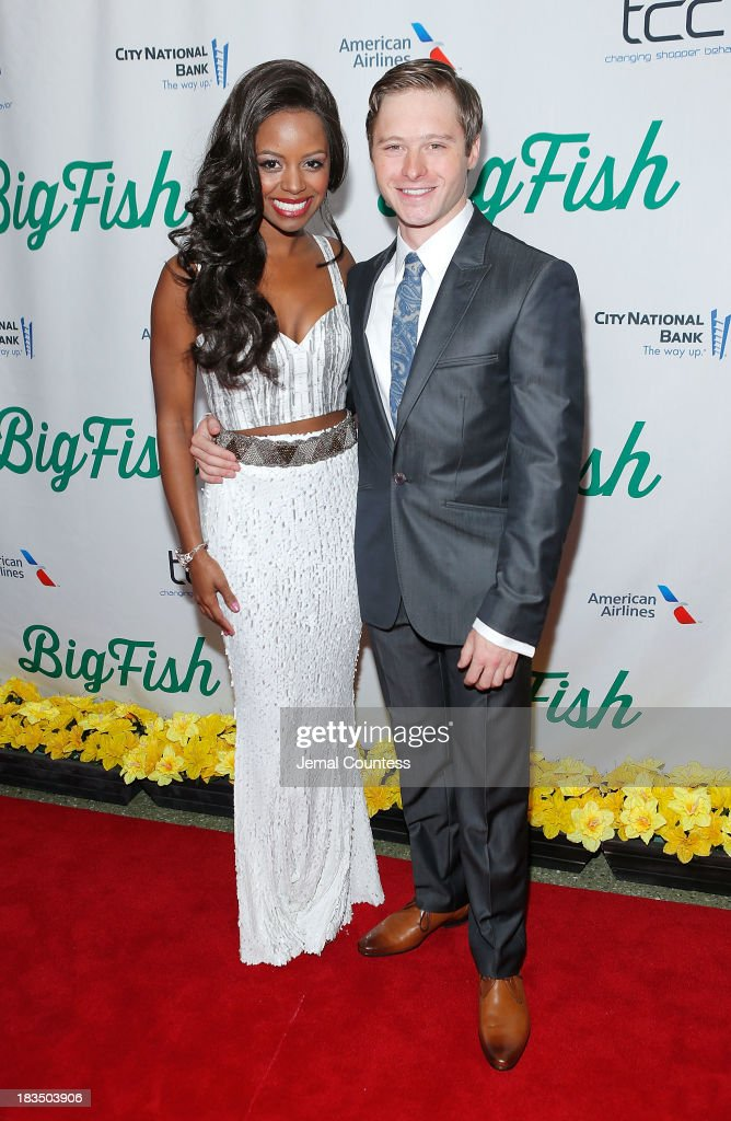 Actors Krystal Joy Brown and Bobby Steggert attend the 'Big Fish' Broadway Opening Night After Party at Roseland Ballroom on October 6, 2013 in New York City.