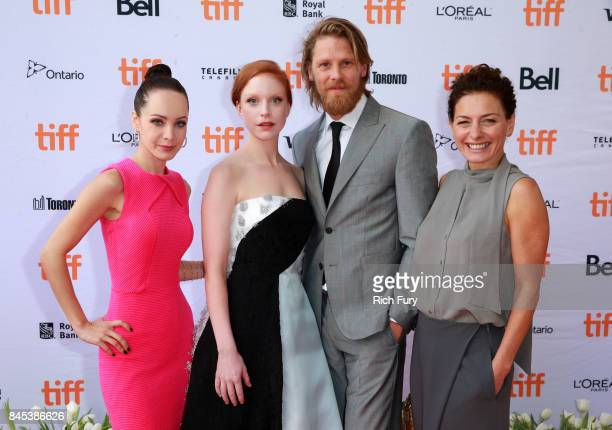 Actors Ksenia Solo Anneke Sluiters Gijs Naber and Lidia Vitale attend the 'Tulipani Love Honour and a Bicycle' premiere during the 2017 Toronto...