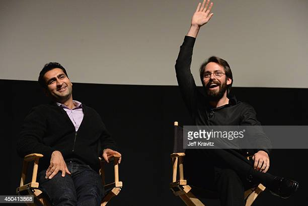 Actors Kumail Nanjiani and Martin Starr attend the HBO 'Silicon Valley' FYC screening event on June 10 2014 in North Hollywood California