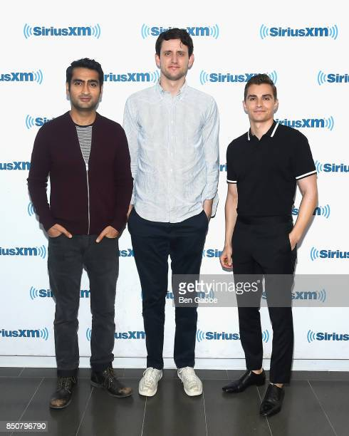 Actors Kumail Nanjiani Zach Woods and Dave Franco visit at SiriusXM Studios to promote their new movie 'The LEGO Ninjago Movie' on September 21 2017...