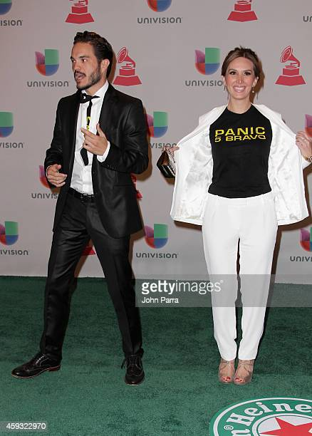 Actors Kuno Becker and Papile Aurora attend the 15th annual Latin GRAMMY Awards at the MGM Grand Garden Arena on November 20 2014 in Las Vegas Nevada