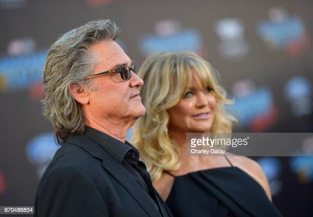 "Actors Kurt Russell and Goldie Hawn at the World Premiere of Marvel Studios' ""Guardians of the Galaxy Vol 2"" at Dolby Theatre in Hollywood CA April..."