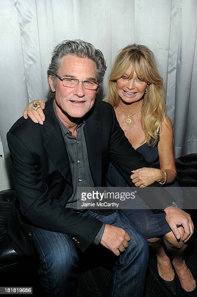 Actors Kurt Russell and Goldie Hawn attend DuJour's Jason Binn and Kurt Russell's celebration of Goldie Hawn and The Hawn Foundation at Espace on...