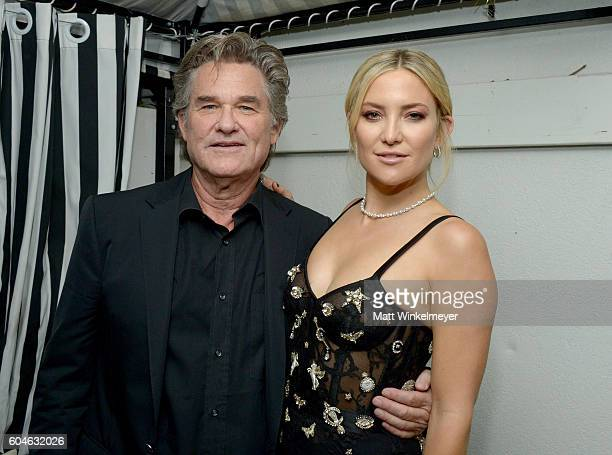Actors Kurt Russell and Kate Hudson attend 'Deepwater Horizon' premiere screening party presented by Johnnie Walker at The Addison Residence on...