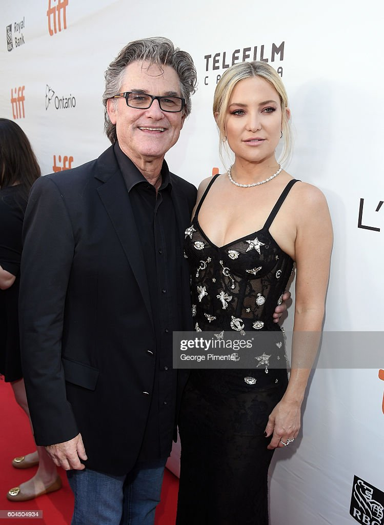 Actors Kurt Russell (L) and Kate Hudson attend the 'Deepwater Horizon' premiere during the 2016 Toronto International Film Festival at Roy Thomson Hall on September 13, 2016 in Toronto, Canada.
