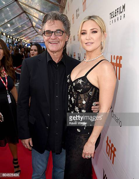 Actors Kurt Russell and Kate Hudson attend the 'Deepwater Horizon' premiere during the 2016 Toronto International Film Festival at Roy Thomson Hall...