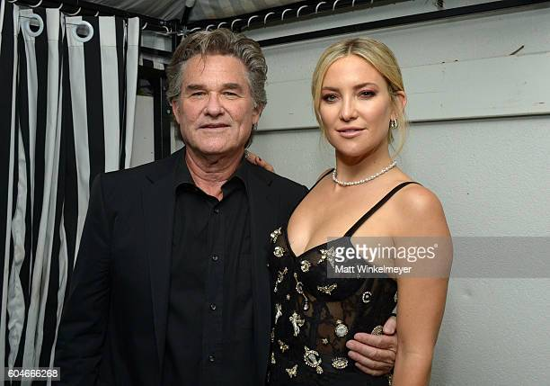 Actors Kurt Russell and Kate Hudson attend the 'Deepwater Horizon' premiere screening party presented by Johnnie Walker at The Addison Residence on...