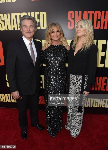 Actors Kurt Russell Goldie Hawn and Kate Hudson attend the premiere of 20th Century Fox's 'Snatched' at Regency Village Theatre on May 10 2017 in...