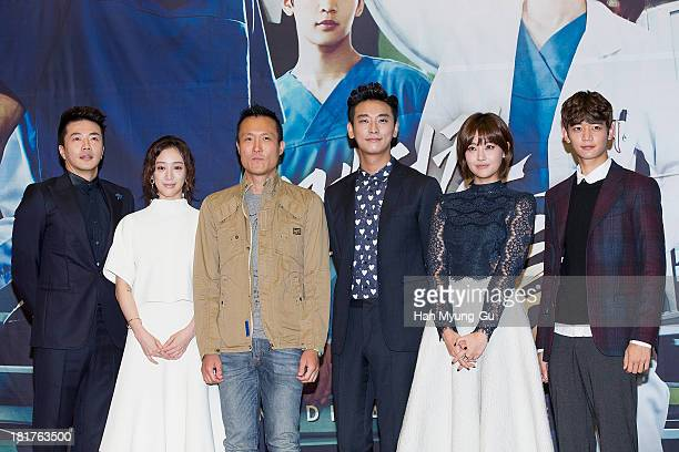 Actors Kwon SangWoo Jung RyeoWon Ju JiHoon Oh YeonSeo and Minho of South Korean boy band SHINee attend MBC drama 'Medical Top Team' press conference...