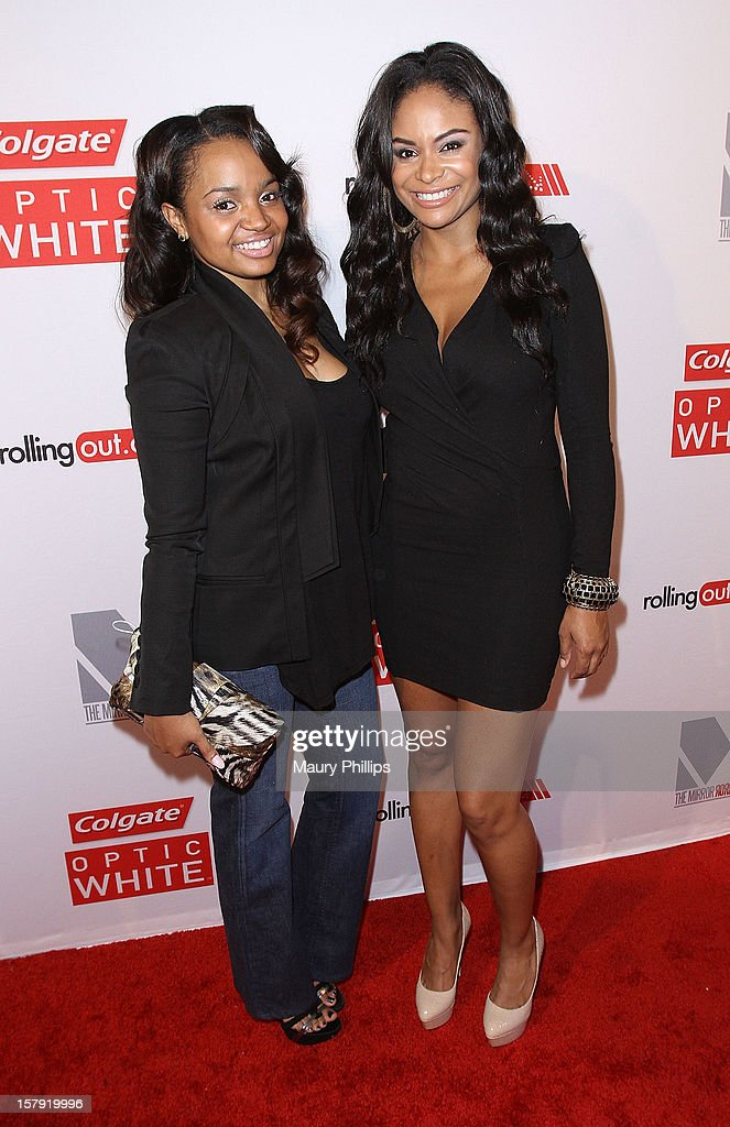 Actors Kyla Pratt (L) and Joyful Drake attend Rolling Out Mirror Mirror Awards at Rolling Stone Restaurant & Lounge on December 6, 2012 in Los Angeles, California.