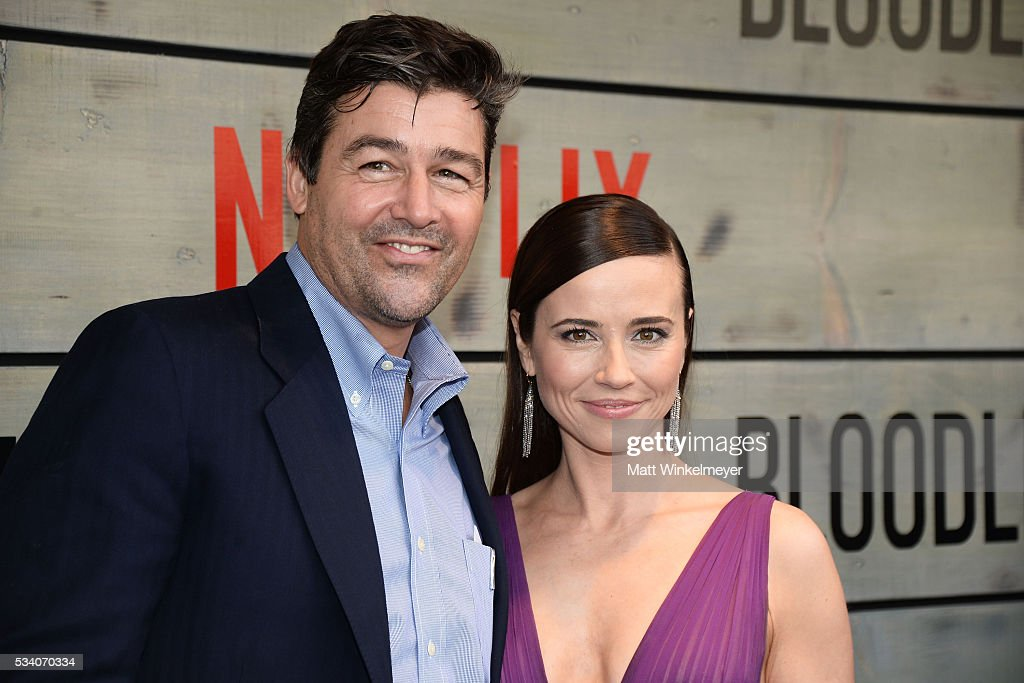 Actors <a gi-track='captionPersonalityLinkClicked' href=/galleries/search?phrase=Kyle+Chandler&family=editorial&specificpeople=745009 ng-click='$event.stopPropagation()'>Kyle Chandler</a> (L) and <a gi-track='captionPersonalityLinkClicked' href=/galleries/search?phrase=Linda+Cardellini&family=editorial&specificpeople=215483 ng-click='$event.stopPropagation()'>Linda Cardellini</a> attend the Premiere of Netflix's 'Bloodline' at Westwood Village Theatre on May 24, 2016 in Westwood, California.