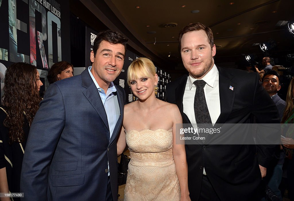 Actors <a gi-track='captionPersonalityLinkClicked' href=/galleries/search?phrase=Kyle+Chandler&family=editorial&specificpeople=745009 ng-click='$event.stopPropagation()'>Kyle Chandler</a>, <a gi-track='captionPersonalityLinkClicked' href=/galleries/search?phrase=Anna+Faris&family=editorial&specificpeople=213899 ng-click='$event.stopPropagation()'>Anna Faris</a>, and <a gi-track='captionPersonalityLinkClicked' href=/galleries/search?phrase=Chris+Pratt+-+Actor&family=editorial&specificpeople=239084 ng-click='$event.stopPropagation()'>Chris Pratt</a> attend the 'Zero Dark Thirty' Los Angeles Premiere at Dolby Theatre on December 10, 2012 in Hollywood, California.