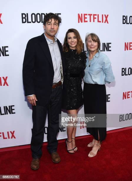 Actors Kyle Chandler Linda Cardellini and Sissy Spacek arrive at the premiere of Netflix's 'Bloodline' Season 3 at the Arclight Cinemas Culver City...