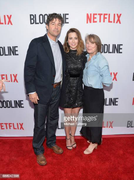 Actors Kyle Chandler Linda Cardellini and Sissy Spacek attend the Los Angeles premiere of Netflix's 'Bloodline' Season 3 at Arclight Cinemas Culver...