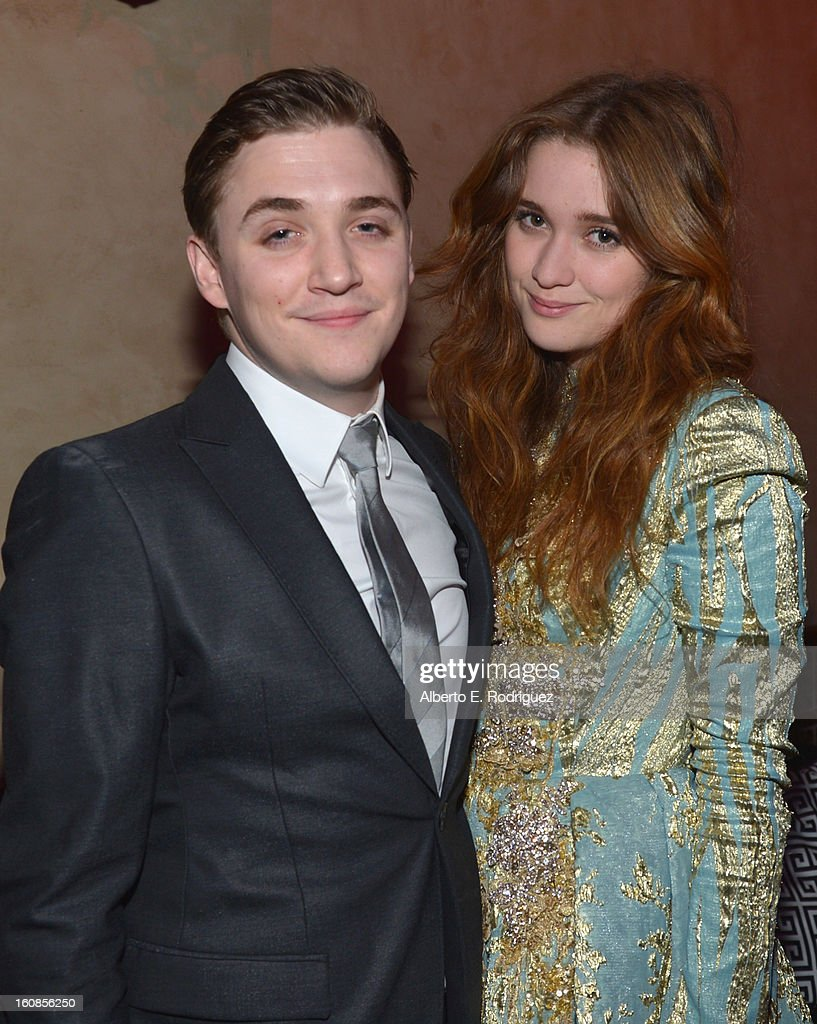 Actors <a gi-track='captionPersonalityLinkClicked' href=/galleries/search?phrase=Kyle+Gallner&family=editorial&specificpeople=572459 ng-click='$event.stopPropagation()'>Kyle Gallner</a> and <a gi-track='captionPersonalityLinkClicked' href=/galleries/search?phrase=Alice+Englert&family=editorial&specificpeople=616562 ng-click='$event.stopPropagation()'>Alice Englert</a> attend the after party for the Los Angeles premiere of Warner Bros. Pictures' 'Beautiful Creatures' at TCL Chinese Theatre on February 6, 2013 in Hollywood, California.