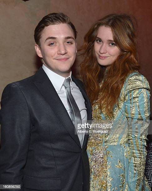 Actors Kyle Gallner and Alice Englert attend the after party for the Los Angeles premiere of Warner Bros Pictures' 'Beautiful Creatures' at TCL...