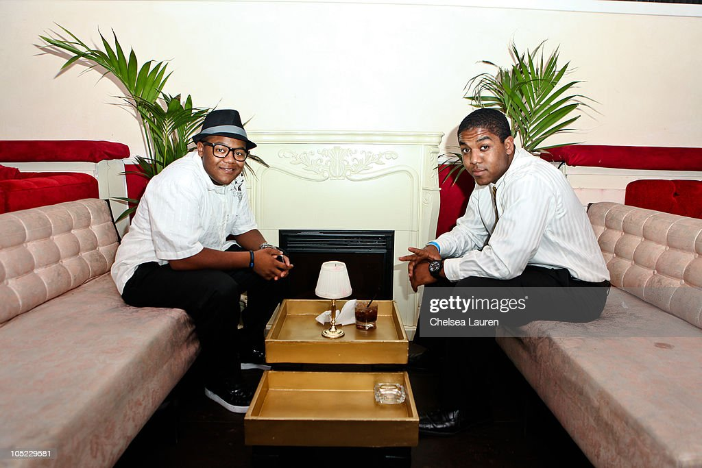 Actors <a gi-track='captionPersonalityLinkClicked' href=/galleries/search?phrase=Kyle+Massey+-+Actor+-+Born+1991&family=editorial&specificpeople=540280 ng-click='$event.stopPropagation()'>Kyle Massey</a> (L) and Christopher Massey (R) attend the Doctrine Denim launch party at Boudoir on October 12, 2010 in Los Angeles, California.