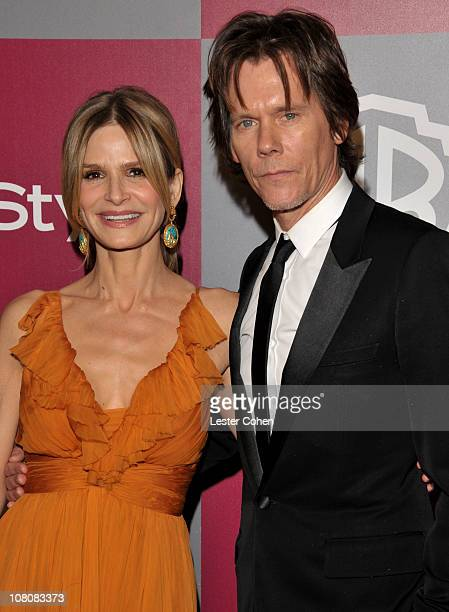 Actors Kyra Sedgwick and Kevin Bacon arrive at the 2011 InStyle And Warner Bros 68th Annual Golden Globe Awards postparty held at The Beverly Hilton...