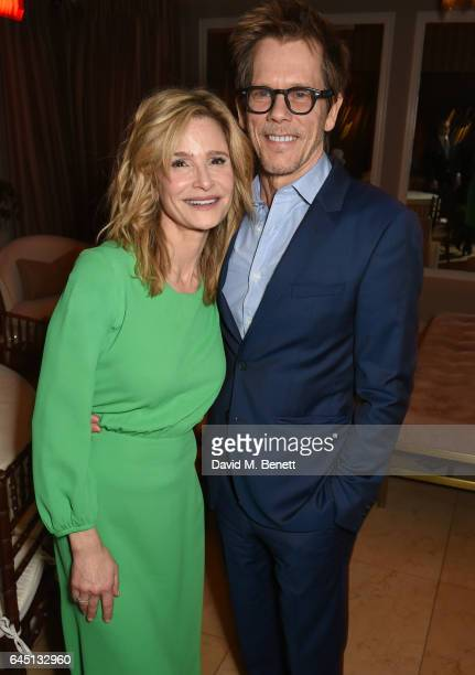 Actors Kyra Sedgwick and Kevin Bacon attend a dinner to celebrate The GCC and The Journey To Sustainable Luxury on February 24 2017 in Los Angeles...