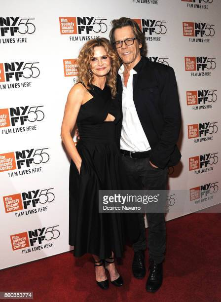 Actors Kyra Sedgwick and Kevin Bacon attend the 55th New York Film Festival 'Joan Didion The Center Will Not Hold' at Alice Tully Hall on October 11...