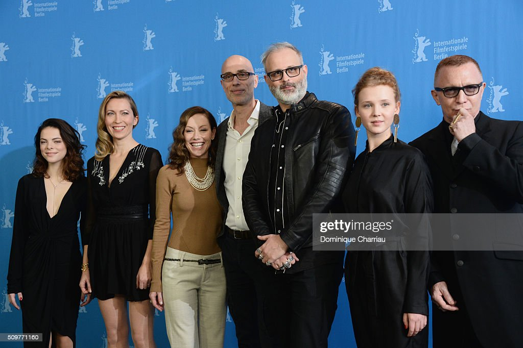 Actors Laetitia Isambert-Denis, Dounia Sichov, Simone-Elise Girard, James Hyndman, director Denis Cote, actors Isolda Dychauk and Bruce LaBruce attend the 'Boris without Beatrice' (Boris sans Beatrice) photo call during the 66th Berlinale International Film Festival Berlin at Grand Hyatt Hotel on February 12, 2016 in Berlin, Germany.