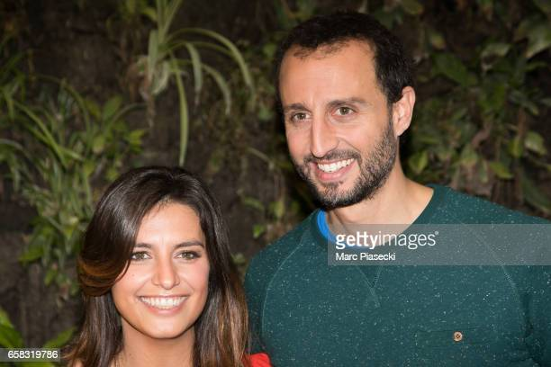 Actors Laetitia Milot and Arie Elmaleh attend the 'Smurfs The Lost Village' photocall at Hotel Pershing Hall on March 27 2017 in Paris France