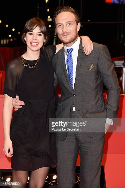 Actors Laia Costa and Frederick Lau attend the 'Victoria' premiere during the 65th Berlinale International Film Festival at Berlinale Palace on...