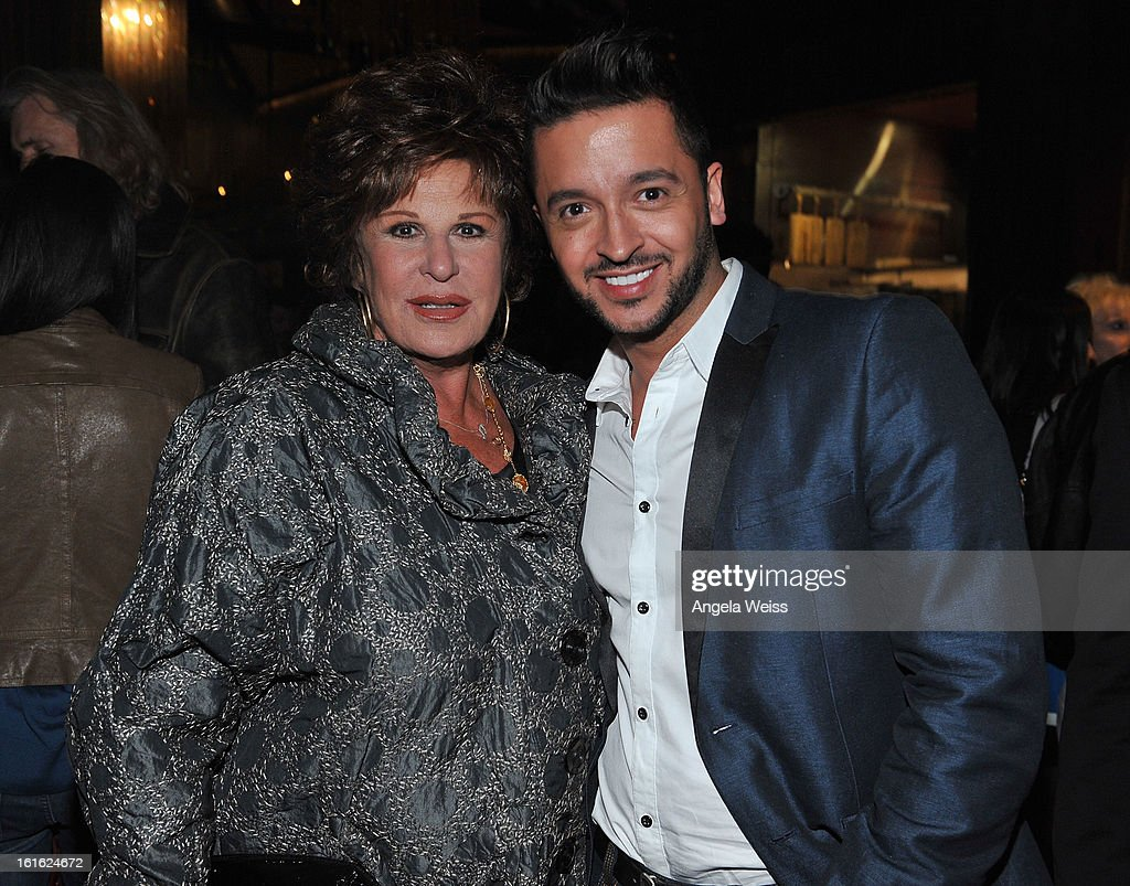 Actors Lainie Kazan and Jay Rodriguez attend the opening night after party of 'Jekyll & Hyde' held at Beso on February 12, 2013 in Hollywood, California.
