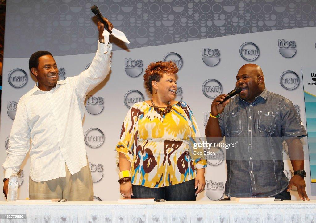 Actors Lamman Rucker, Tamela Mann and David Mann of the TBS show 'Meet the Browns' attend the