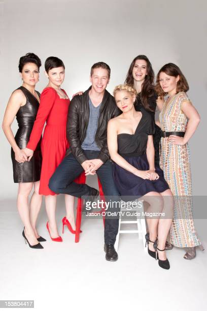Actors Lana Parrilla Ginnifer Goodwin Josh Dallas Jennifer Morrison Meghan Ory and Emilie deRavin are photographed for TV Guide Magazine on July 14...