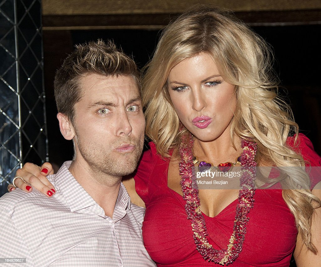 Actors <a gi-track='captionPersonalityLinkClicked' href=/galleries/search?phrase=Lance+Bass&family=editorial&specificpeople=210566 ng-click='$event.stopPropagation()'>Lance Bass</a> (R) and Ivory May attend at 'Pieces(Of Ass)' Opening Night Los Angeles Performance at The Fonda Theatre on March 28, 2013 in Los Angeles, California.