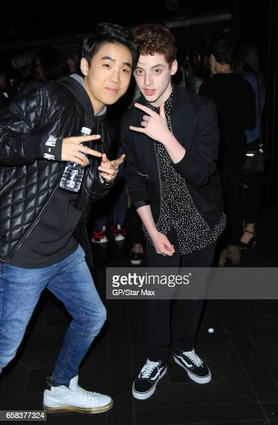 Actors Lance Lim and Thomas Barbusca are seen on March 26 2017 in Los Angeles California